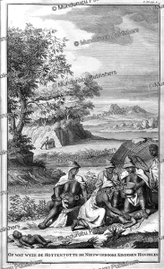 Hottentots taking care of their newborns, I.C. Philips, 1727 | Photos and Images | Travel