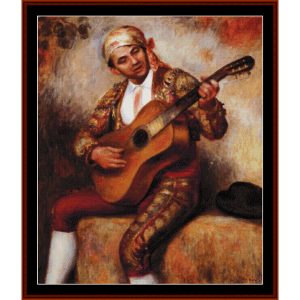 The Spanish Guitarist - Renoir cross stitch pattern by Cross Stitch Collectibles   Crafting   Cross-Stitch   Other