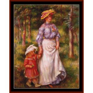 The Promenade - Renoir cross stitch pattern by Cross Stitch Collectibles | Crafting | Cross-Stitch | Other