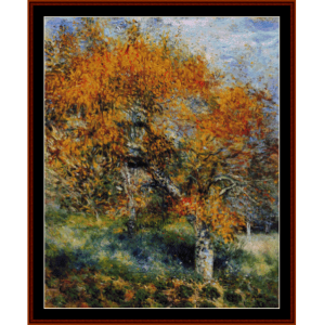 the pear tree - renoir cross stitch pattern by cross stitch collectibles