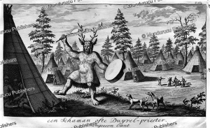 a tungus shaman or devils-priest, nicolaas witsen, 1785