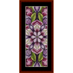 mandala 7 bookmark cross stitch pattern by cross stitch collectibles