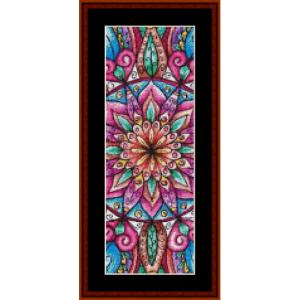 mandala 8  bookmark cross stitch pattern by cross stitch collectibles