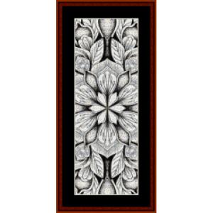 mandala 13 bookmark cross stitch pattern by cross stitch collectibles