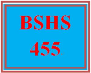 bshs 455 week 3 community mental health agency