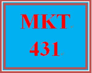mkt 431 week 4 pricing strategy