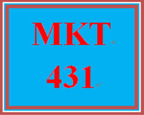 MKT 431 Week 4 Business Market Analysis, Part II | eBooks | Education
