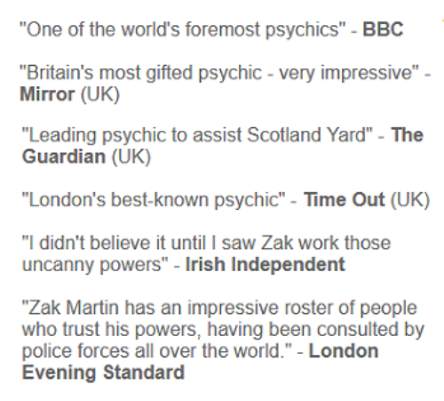 Second Additional product image for - Zak Martin's Psychic Development Course