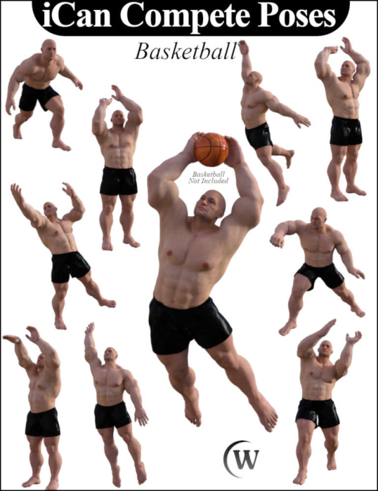 Second Additional product image for - iCan COMPETE Sports Poses for The Brute 8 (Genesis 8 Male character)
