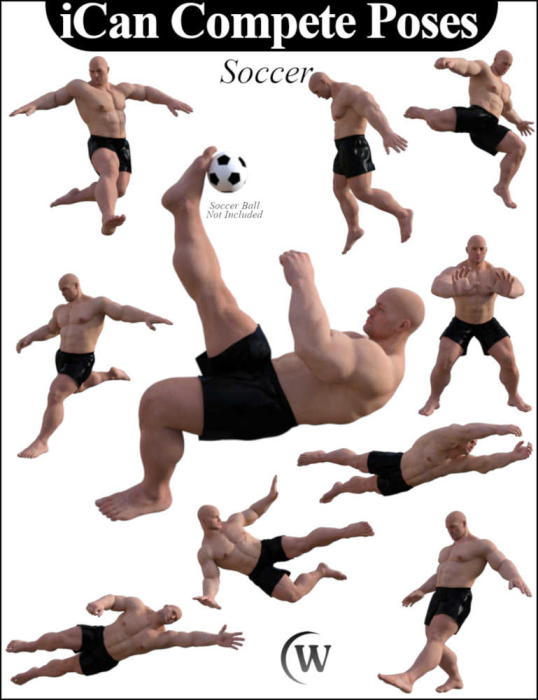 Third Additional product image for - iCan COMPETE Sports Poses for The Brute 8 (Genesis 8 Male character)