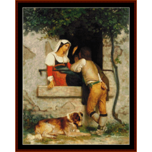 Italian Lovers - Bouguereau cross stitch pattern by Cross Stitch Collectibles | Crafting | Cross-Stitch | Other