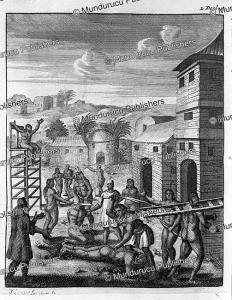 methods of punishment in tonquin, vietnam, jan lamsvelt, 1717