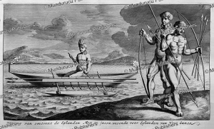 Canoe with natives of New Guinea, Nicolaas Witsen, 1785 | Photos and Images | Travel