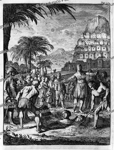 a thief buried alive near luzon, philppines, jan lamsvelt, 1717