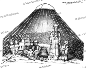 the tent of a tungus family, simon pallas, 1776