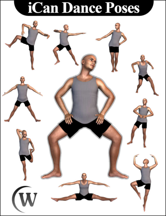 First Additional product image for - iCan DANCE Dancing Poses for Genesis 8 Male(s)
