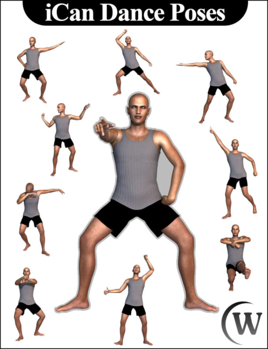 Second Additional product image for - iCan DANCE Dancing Poses for Genesis 8 Male(s)