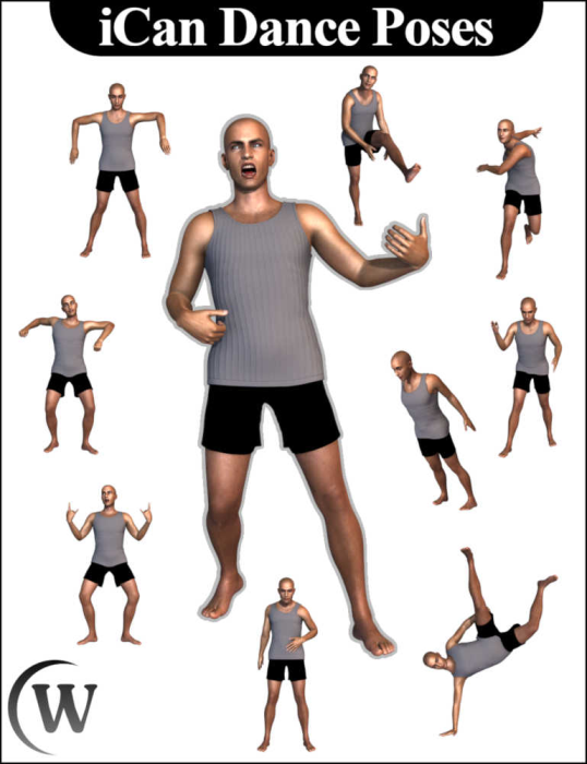 Third Additional product image for - iCan DANCE Dancing Poses for Genesis 8 Male(s)