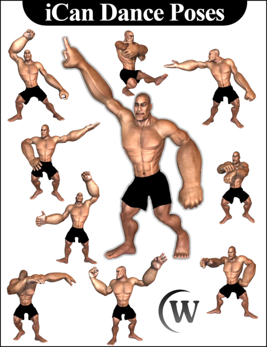 Second Additional product image for - iCan DANCE Dancing Poses for Toon Dwayne 8