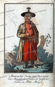 mongolian lama or priest, johann gottlieb, 1799