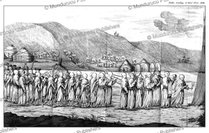 Funeral procession of a Mongolian priest (lama), Simon Pallas, 1776 | Photos and Images | Travel