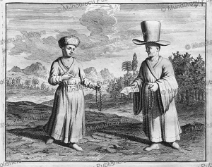 Mongolian nun and priest, Ysbrants Ides, 1705 | Photos and Images | Travel