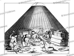 The tent of a Kalmyk blacksmith, Simon Pallas, 1776 | Photos and Images | Travel