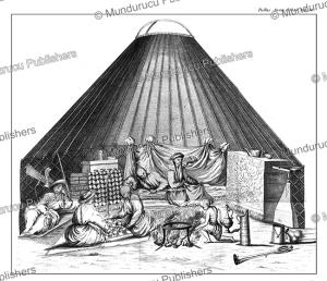 The tent of a noble Kalmyk, Simon Pallas, 1776   Photos and Images   Travel