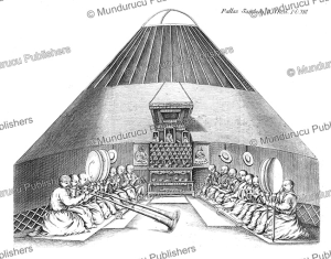 a small kalmyk temple tent, mongolia, simon pallas, 1776