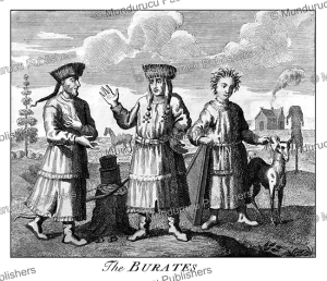 buryat family, indigenous inhabitants of siberia, john mottley, 1739