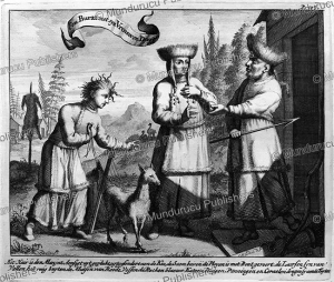 buryat man with his wives, mongolia, nicolaas witsen, 1705