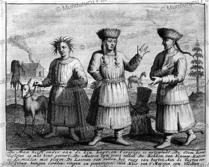 Buryat man with his wives, Mongolia, Ysbrants Ides, 1710 | Photos and Images | Travel