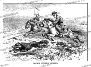hunting wolves in mongolia, josiah wood whymper, 1883