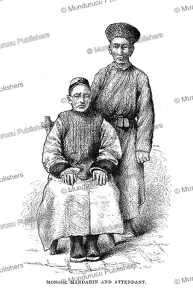 mongol mandarin and his attendant, james gilmour, 1883