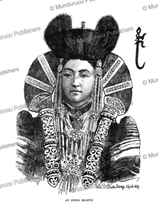 an ourga (oulan-bator) beauty, mongolia, julius price, 1892