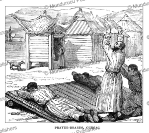 praying-boards, ourga (oulan-bator), mongolia, julius price, 1892