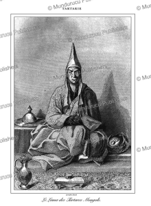 the lama of the mongolian tatars, tartary, lemaitre, 1848