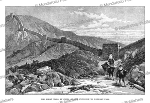 the great wall of china, mongolia, julius price, 1892