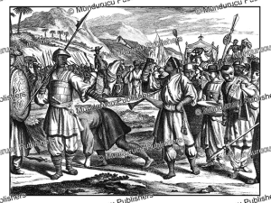 vasco da gama welcomed in calcutta in 1498, philippus baldaeus, 1672