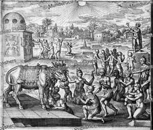 People from Banian, Pakistan, worshipping a cow, Theodor de Bry, 1619 | Photos and Images | Travel