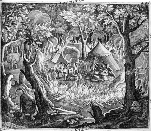 How the English camp in the wild in India, Theodor de Bry, 1619 | Photos and Images | Travel
