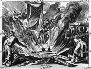 The widow of a Brahmin jumps into the fire, India, John Ogilby, 1678 | Photos and Images | Travel