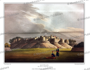 the rajah's fortress at hattrass [hathras], near agra, india, g. fitz clarence, 1819