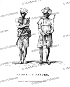 Peons of Mysore, India, H. Salt, 1809 | Photos and Images | Travel