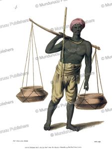 an auhheer or seller of milk, india, frans balthazar solvyns, 1804