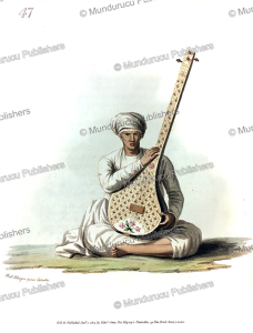 A tumburu instrument, India, Frans Balthazar Solvyns, 1804 | Photos and Images | Travel