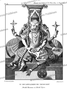 narasimha, the man-lion, the 4th incarnation of vishnu, p. sonnerat, 1782