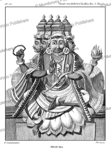 the hindu creator god brahma, p. sonnerat, 1782