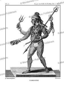 Bhairava, a Hindu tantric deity, P. Sonnerat, 1782   Photos and Images   Travel
