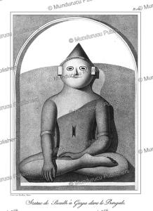buddha statue at gaya, bengal, tardieu l'ai^ne´, 1800